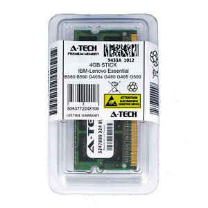 4GB SODIMM IBM-Lenovo Essential B580 B590 G405s G480 G485 G500 Ram Memory