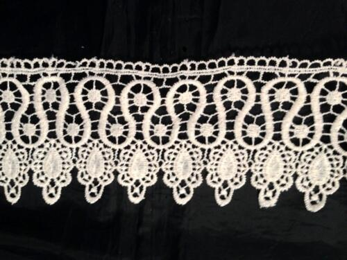 1 Yard Ivory Venice Lace Venise Trim 3 1//4 inch Wide SHIPS FROM USA