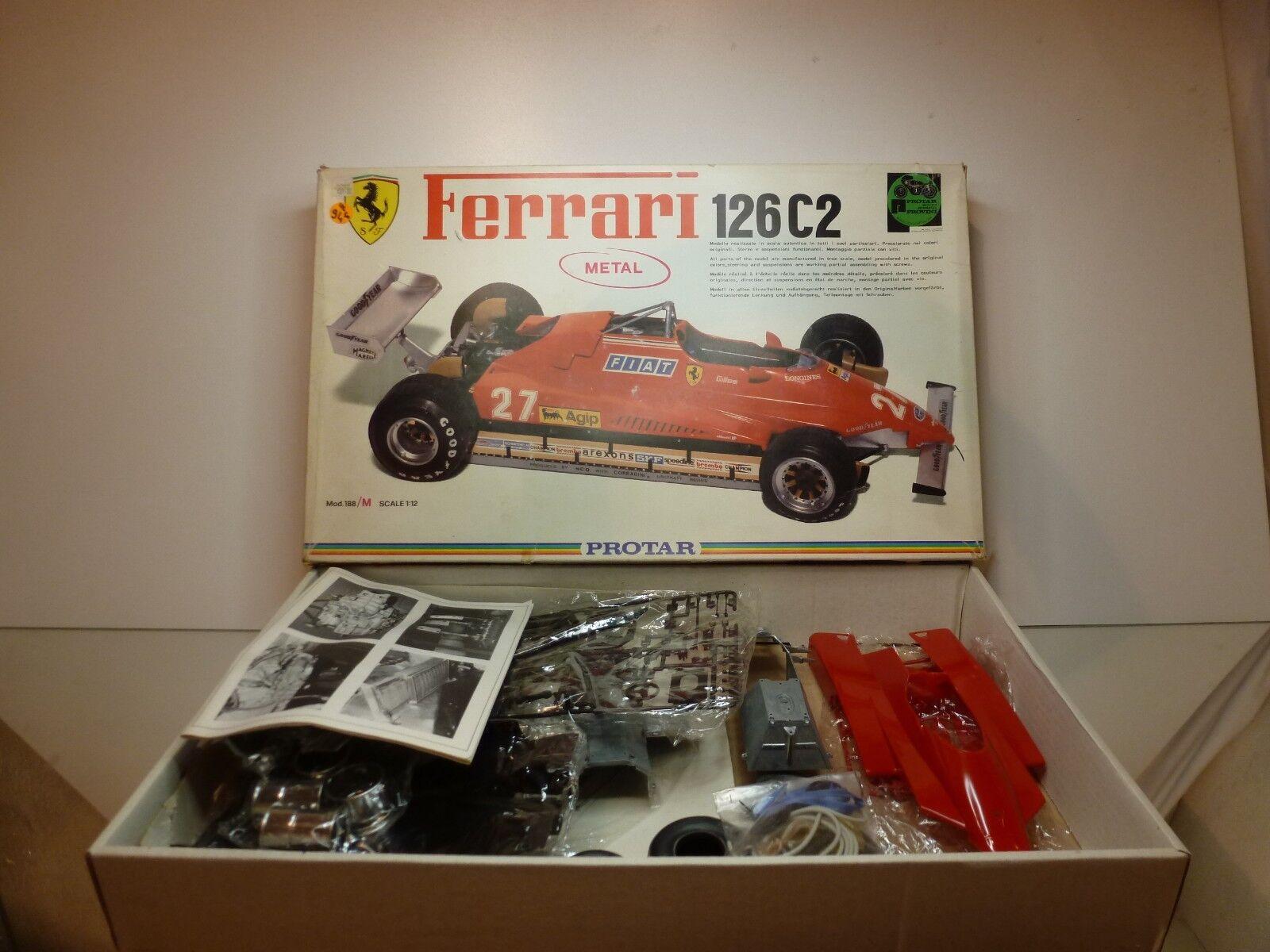 PredAR metal 188 FERRARI 126C2 - F1 RED 1 12 - UNBUILT CONDITION IN BOX
