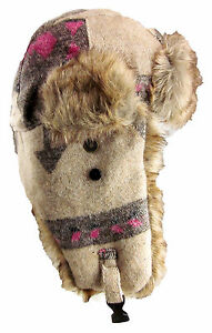 5a752789 Dakota Dan Nassak Trooper Ear Flap Winter Hat with Faux Fur Eskimo ...