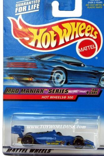 2000 Hot Wheels #17 Mad Maniax Hot Wheels 500 full crd