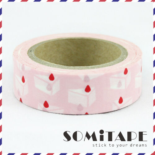 Cake Slice Pink Washi Tape Craft Decorative Tape