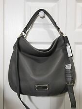 NWT Marc by Marc Jacobs $428 Q Hillier Leather Hobo Bag Handbag, Faded Aluminum