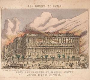 LES-RUINES-de-PARIS-1871-COUR-DES-COMPTES-CONSEIL-D-039-ETAT-grave-MARKS