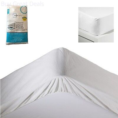 Twin Size Mattress Pad Protector Vinyl Cover Bed ...