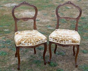 Paire-de-Chaises-Ancienne-Style-Louis-XV-19eme-Siecle