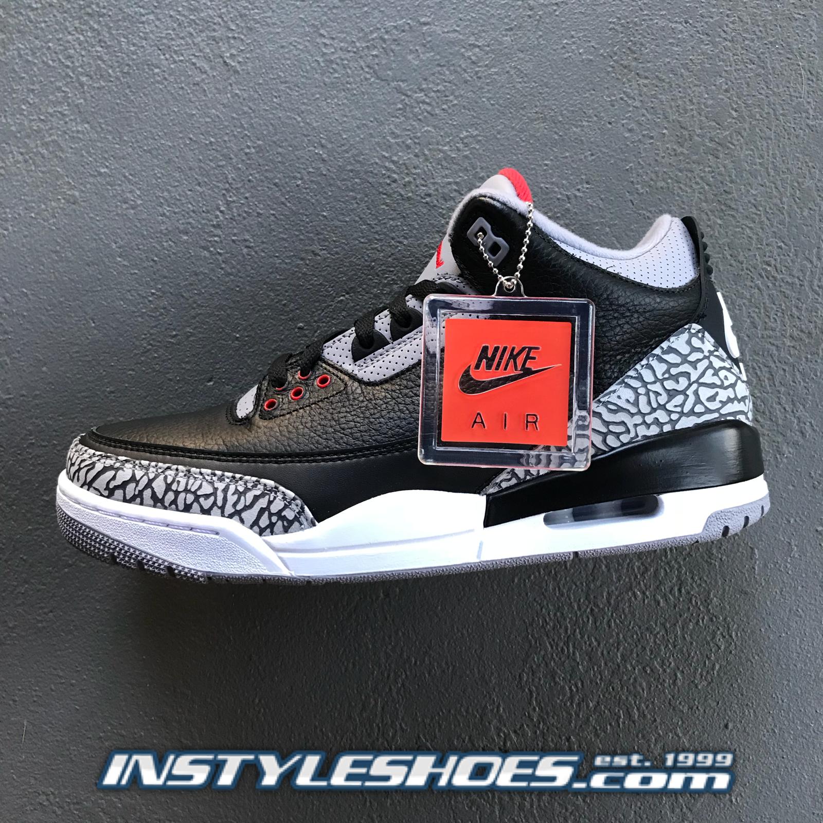 3cf407a67bf1 Nike Air Jordan 3 OG Black Black Black Cement Grey 2018 Retro 854262-001 88  a704ae