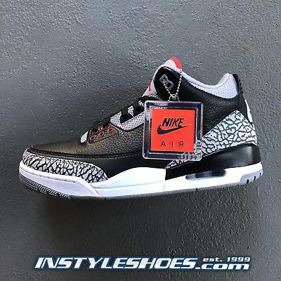 size 40 e41e8 24065 Nike Air Jordan 3 OG Black Cement Grey 2018 Retro 854262-001 88 AUTHENTIC    eBay