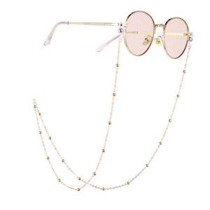 unverwechselbares Design Sonderangebot Finden Sie den niedrigsten Preis Details zu 1/2x Damen Brillenkette Brillenband Perlen Kette Kordelhalter  Umhängeband SeilDE