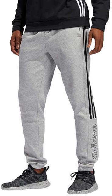 adidas Men's Jogger Cotton Sweatpants Grey Gray 3 Stripes Size 2xl ...