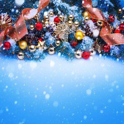 8x8FT Vinyl Photo Backdrops,Winter,Christmas Time Tree Snow Photoshoot Props Photo Background Studio Prop