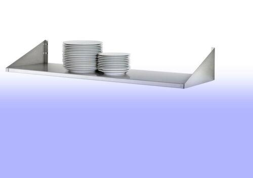 Edelstahl Wandbord  80 x 40 cm Gewürz,Küchen,Gastroregal ProfiWare HoheTragkraft