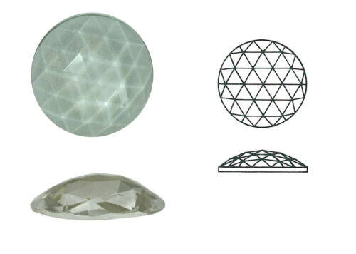 4 mm 2 Stk. rund Rautenrose aus Glas Ø ca h ca 11 mm