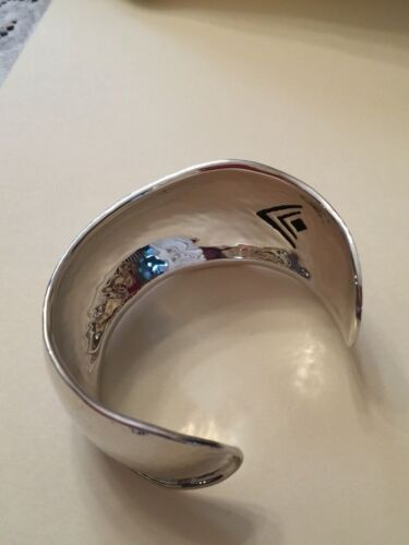 Silpada STERLING SILVER Cuff Bracelet Live Large B2460 RARE $399 Retail WOW .925