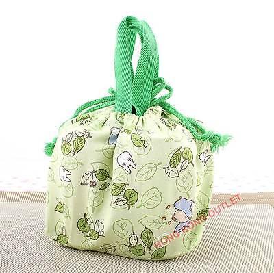 TOTORO Drawstring Bento Lunch Box Bag Japan Made  M31b