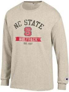 708ef845ab Champion Men's North Carolina State University Long Sleeve T-shirt ...
