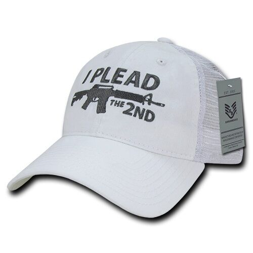 I Plead the 2nd Second Rifle Gun Control NRA AR-15 Trucker Polo Baseball Hat Cap