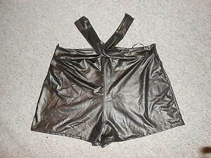 215-13-Pantalon-corto-minishorts-Negro-Ligamento-cruzado-Sexy-Talla-M-L-NUEVO