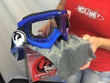 Dragon MDX Privateer Blue Goggles Clear Lens Atv Motocross MX BMX goggle