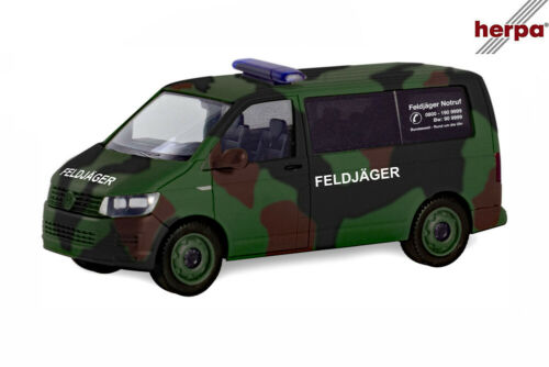Feldjäger Flecktarn Herpa 700719 VW T6 Bus NEU /& OVP