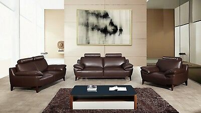 Fantastic 3 Pc Dark Brown Italian Top Grain Split Full Leather Sofa Ibusinesslaw Wood Chair Design Ideas Ibusinesslaworg