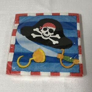 18 Pirates Beverage napkins  Pirate party theme  pirate pirate  map pirate napkins