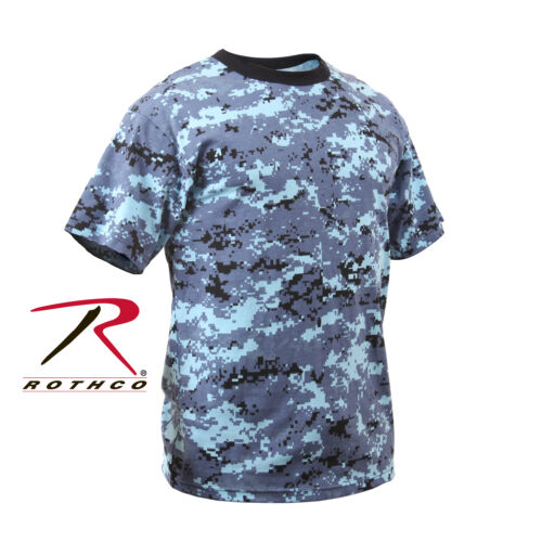 Rothco 5265 Kids Digital Camo T-Shirt Sky Blue Digital Camo