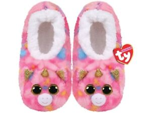 Objectif Ty Ciabatte Babbucce Slipper Peluche Fantasia Unicorno Medium 31-33 Originale
