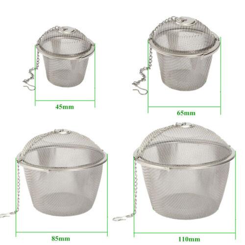 Practical Tea Ball Spice Strainer Mesh Infuser Filter Stainless Steel Herbal NES