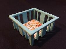 Vintage Fisher Price Little People Blue PLAY PEN Playpen BABY BED CRIB NURSERY
