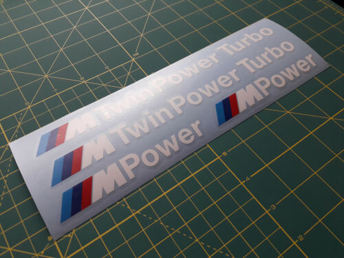 4 x BMW Twin power turbo body side sport Decal Sticker fits M series 520 f10 f12