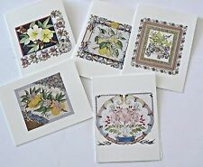 Blank Note Cards from Lipton Promotion Floral containing a Recipe Interior Vtg