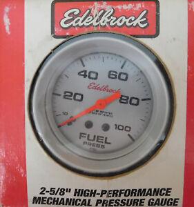 Edelbrock-73829-Ultra-Lite-Fuel-Press-Gauge-2-5-8-034-Dia-0-100-PSI-mechanical