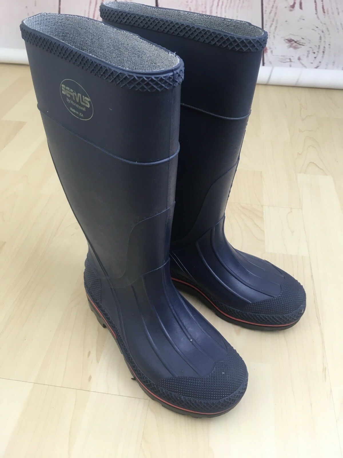 Honeywell Servus Women's Size 5 Knee Rubber Boots Navy bluee