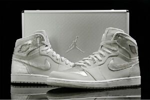 18e1d96c6d65bb Nike Air Jordan 1 Retro Dunk HI SILVER 25th Anniversary Suit Case ...