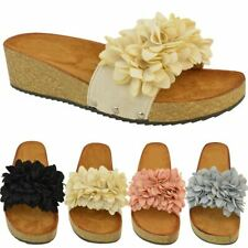 1f8da5d52c0 item 3 Ladies Womens Low Heel Wedge Comfort Sandals Cushioned Summer  Footbed Size -Ladies Womens Low Heel Wedge Comfort Sandals Cushioned Summer  Footbed ...