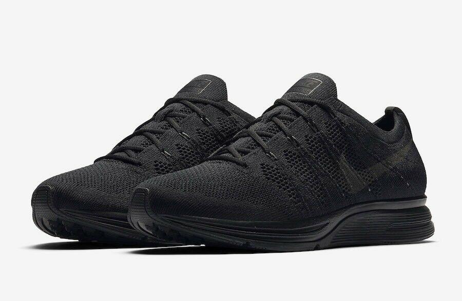 Brand New Nike Flyknit Trainer AH8396-004 Black M Size 12.5 W Size 14
