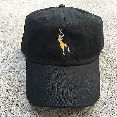 KOBE BRYANT EMBROIDERED UNSTRUCTURED DAD CAP HAT BLACK FAREWELL LAKERS NEW e2c9e5e78296
