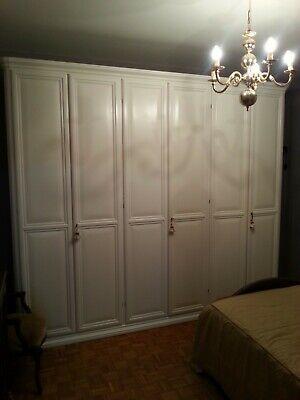 Armadio 4 stagioni usato in legno massello laccato bianco ...