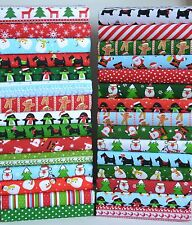 NOVELTY FESTIVE CHRISTMAS FABRIC 25 PIECES POLY COTTON REMNANTS BUNDLE ADVENT 6