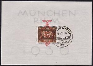 """=== Dr Third Reich BLOCK 10 SST. """"Munich-Bahnhof"""", Cat. 130 € ==="""