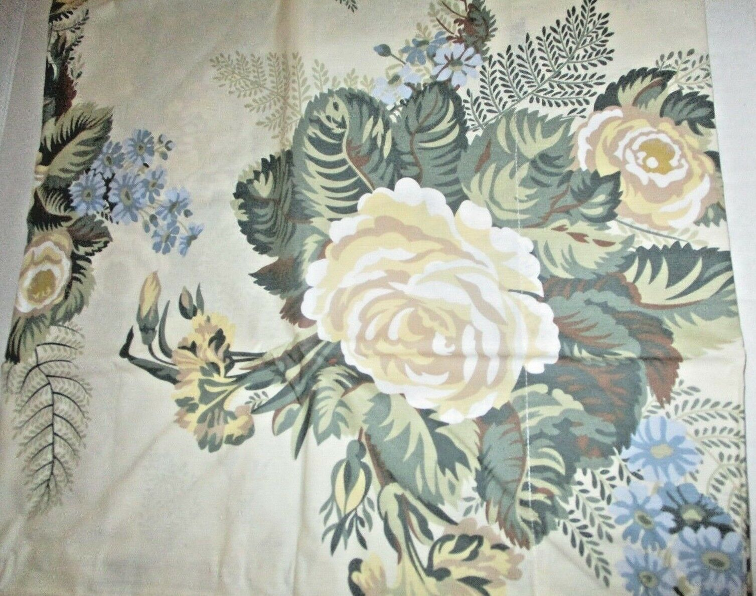 Floral 100% Cotton 2 KING Pillowcases pinks Fern Yellow bluee Green Portugal NEW
