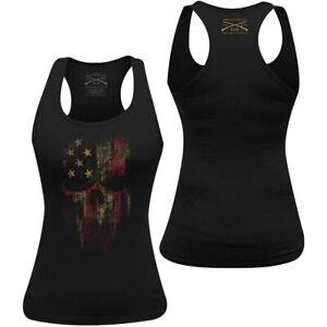 Grunt Style Women's American Reaper Racerback Tank Top - Black