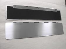 Innenklappe-350 x 80 mm-Briefeinwurf-Briefklappe-Zugluftstopper-  EDELSTAHLLOOK-