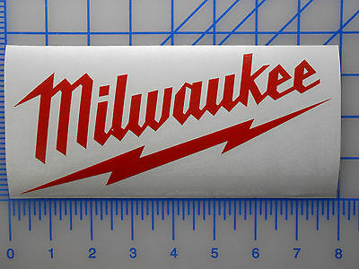 """MILWAUKEE  ANY COLOR  STICKERS DECALS SAW DRILL TOOLS 12/"""" sticker decal"""