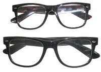 Black Or Dark Brown Hornrim Style Reading Glasses W/spring Hinge
