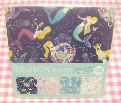 Made in Japan 48 sheets Blue Charm Story Mermaid 4 Design Paper KYOWA