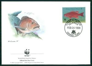 Diplomatique Turks & Caicos Bijoux-fdc 1998 Wwf Faune Poissons Tropical Fish Pesce Brais Em13-afficher Le Titre D'origine Haute RéSilience