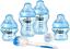 2 x 260 ml Tommee Tippee Closer to Nature Newborn Baby Bottle Starter Set Bleu