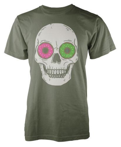 Funny Skull Donut Eyes Kids T-Shirt